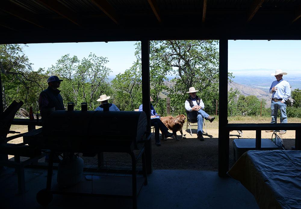 Cowboy chats at Dorrance Ranch